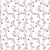Christmas seamless lollipop pattern Stock Images