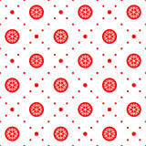 Christmas seamless ornament. Seamless pattern. Christmas ornament with snowflake and dotted rhombuses. Holiday background Stock Photo