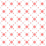 Christmas seamless ornament. Seamless pattern. Christmas ornament with snowflake and dotted rhombuses. Holiday background Stock Images