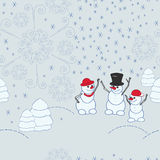 Christmas seamless patter Stock Images