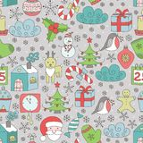 Christmas seamless patter Royalty Free Stock Photos