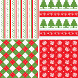 Christmas seamless pattern. Color background Stock Photos