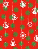 Christmas - seamless pattern. Seamless pattern with star shapes Royalty Free Stock Image