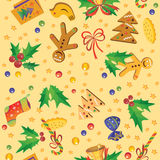 Christmas seamless pattern. Decorative seamless pattern with sweets and other symbols of Christmas Royalty Free Stock Image