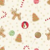 Christmas seamless pattern. Vector illustration Stock Photo