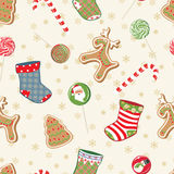 Christmas seamless pattern Royalty Free Stock Image