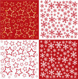 Christmas seamless pattern. Red background Royalty Free Stock Image