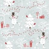 Christmas seamless pattern Stock Photos