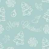 Christmas seamless pattern Stock Photo