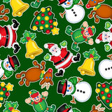Christmas Seamless Pattern stock illustration