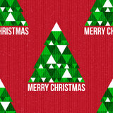Christmas seamless pattern. Vintage Christmas background of Christmas tree. Paper texture. Realistic cardboard Royalty Free Stock Images