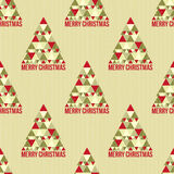 Christmas seamless pattern. For background. Vector illustration on paper texture. Realistic cardboard Royalty Free Stock Photography