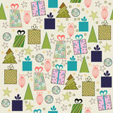 Christmas seamless pattern. In the style retro Royalty Free Stock Image