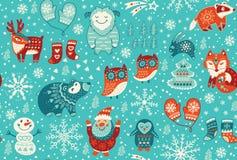 Free Christmas Seamless Pattern Stock Image - 63036401