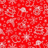 Christmas seamless pattern abstract red background Stock Photos