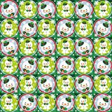 Snowman seamless pattern  Royalty Free Stock Images