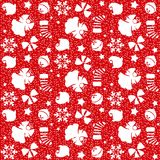 Christmas symbols seamless pattern - vector Royalty Free Stock Images