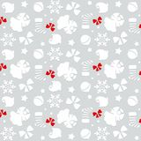 Christmas symbols seamless pattern - vector Royalty Free Stock Image