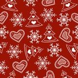 Christmas seamless pattern royalty free illustration