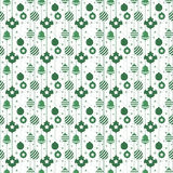 Christmas seamless pattern with balls in green color Royalty Free Stock Photo