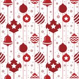 Christmas seamless pattern with balls in red color royalty free illustration
