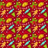 Christmas seamless pattern Stock Image