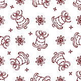 Christmas seamless pattern with bells Royalty Free Stock Images