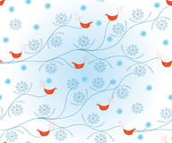 Christmas seamless pattern with birds Royalty Free Stock Photography