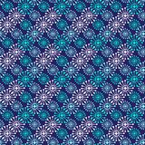 Christmas seamless pattern. Geometric texture snowflakes. Abstract endless background. Vector design for textile or wrapping paper Royalty Free Stock Image