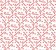 Christmas seamless pattern with candy cane. Christmas background. Christmas seamless texture, wallpaper, fabric. Vector illustrati. On Stock Photography