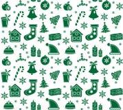 Christmas seamless pattern. Christmas background, Christmas seamless texture, wallpaper, fabric. Vector illustration Royalty Free Stock Photos