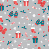 Christmas seamless pattern. Christmas and New Year`s decorative. Elements. Cute winter background. Vector illustration Royalty Free Stock Image