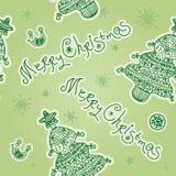 Christmas seamless pattern with Christmas Tree Stock Photos