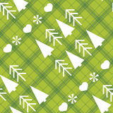 Christmas seamless pattern with Christmas trees Royalty Free Stock Photo