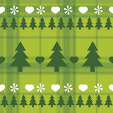 Christmas seamless pattern with Christmas trees Royalty Free Stock Images