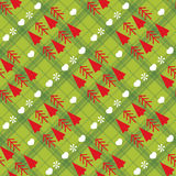 Christmas seamless pattern with Christmas trees Stock Image