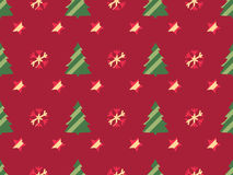 Christmas seamless pattern with Christmas trees, snowflakes and stars. Vector Royalty Free Stock Image