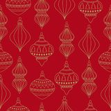 Christmas seamless pattern with Christms balls vector illustration