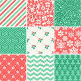 Christmas Seamless pattern collection Stock Photography
