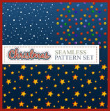 Christmas seamless pattern. Color set Stock Photos