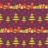Christmas seamless pattern. Royalty Free Stock Photo