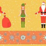 Christmas seamless pattern. Stock Photos