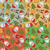 Christmas seamless pattern. 4 colors in 1 set Royalty Free Illustration