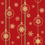 Christmas seamless pattern with decorative balls Royalty Free Stock Photography
