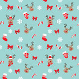 Christmas seamless pattern with deer. Royalty Free Stock Photography