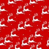 Seamless pattern with deers vector illustration