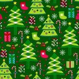 Christmas seamless pattern. Seamless pattern - Christmas elements Vector Illustration