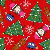 Christmas seamless pattern. Seamless pattern - Christmas elements Stock Illustration