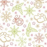 Christmas seamless pattern elements. This is file of EPS10 format Stock Images