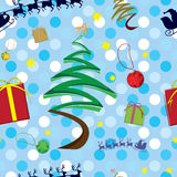 Christmas seamless pattern. In eps 10 format Stock Photos